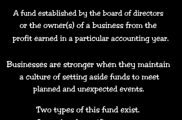 Meaning of Revenue Reserves in Accounting and key Explanations
