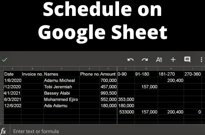 How to set up Account Payable on Google Sheet