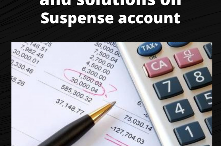 Practical Question and Solution on Suspense Account